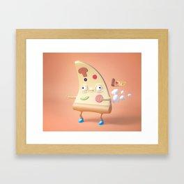 Pizza Fart Framed Art Print