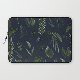 Winter Leaf Pattern 2 (Navy) Laptop Sleeve