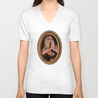 britney V-neck T-shirts featuring Britney Praying. by eriicms