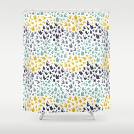 Abstract Flying Birds Shower Curtain
