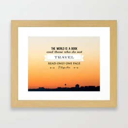 The absolutely amazing sunset over Bournemouth UK (quotes) Framed Art Print