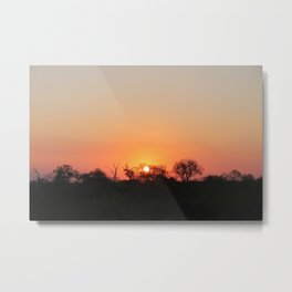 Sunset in Sabi Sands 1 Metal Print