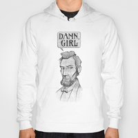 lincoln Hoodies featuring Damn, Lincoln by dellydel