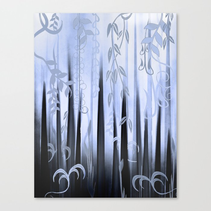 Blue Forest Abstract Canvas Print
