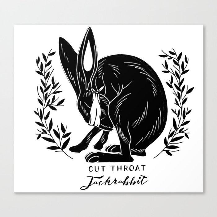 The Blind Jack Rabbit Canvas Print By Cutthroatjackrabbit Society6