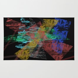 Black abstract designe Rug