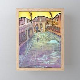 Rainy Swedish day in Stockholm's Old town  Framed Mini Art Print