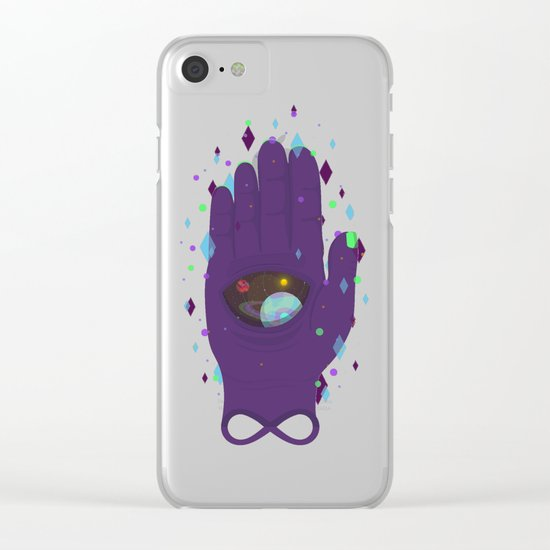 Infinity's Hand Clear iPhone Case
