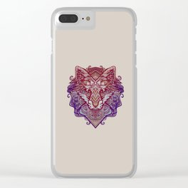 Wolf Ornament Clear iPhone Case
