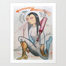 Memory, Contrivance, and Luck! Art Print