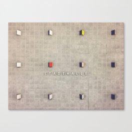 Nuremberg U-Bahn Memories - Stadthalle Canvas Print