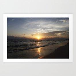 Bonita Beach Sunset Art Print