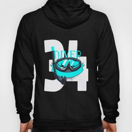 Scuba Diving 34th Birthday Diver 34 Years Gift Hoody