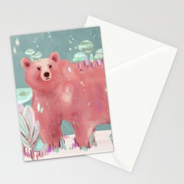 beary nice to meet you Stationery Cards