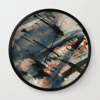 wave Wall Clocks featuring Wave  by Peter Coleman