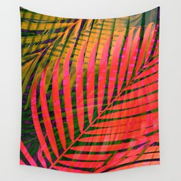 COLORFUL TROPICAL LEAVES no4B Wall Tapestry