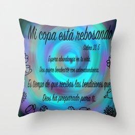 Espiral colorido - Salmo 23, 5 Throw Pillow