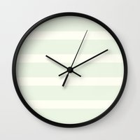 striped Wall Clocks featuring STRIPED by claire + pierre