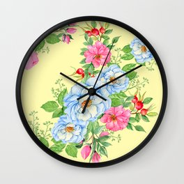 Vintage Floral Pattern No. 4 Wall Clock