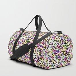 Colorful Leopard Spots Duffle Bag