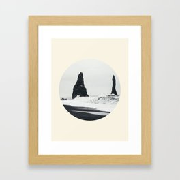 Black Sand Beach Iceland Framed Art Print