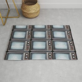 They Live TV Messages Rug