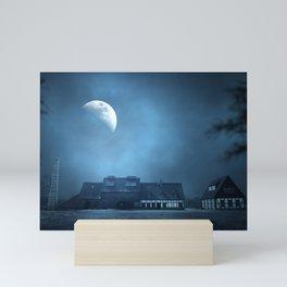 Half Moon Over Saxony Village Home Mini Art Print