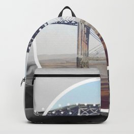Surreal Bridge - circle graphic Backpack