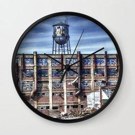 Destruction in Danville No. 1 Wall Clock