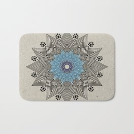 Digital Mandala #5 Bath Mat