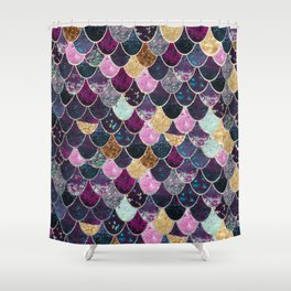 REALLY MERMAID - JEWEL SCALES Shower Curtain