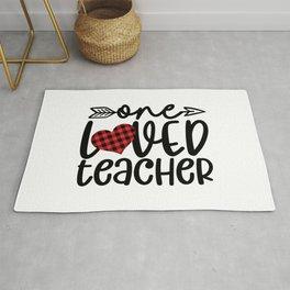 One Loved Teacher Rug