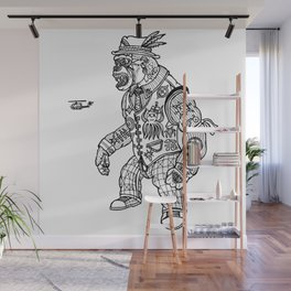 King Kong Black and White Wall Mural