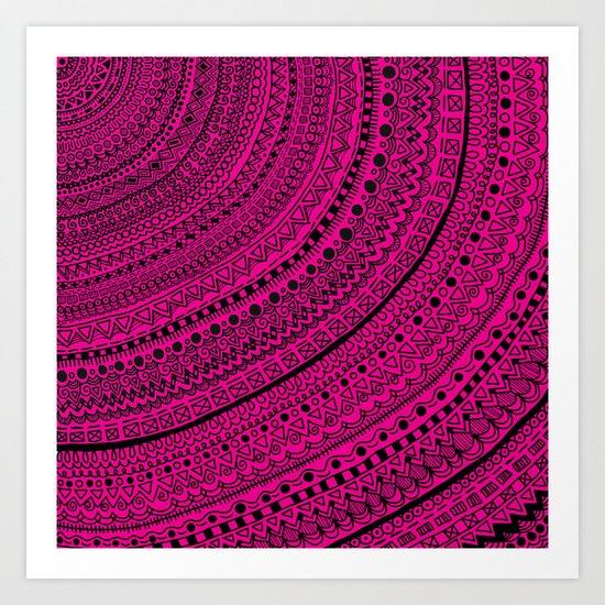 Hot Pink Pulse o4. Art Print
