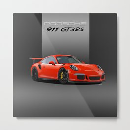 2016 Porsche 911 GT3 RS in Lava Orange Metal Print