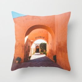 Silencio at the Santa Catalina Monastery, Arequipa, Peru Throw Pillow