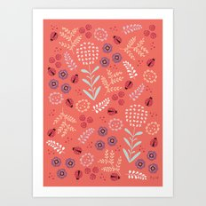 Little Ladybugs Art Print