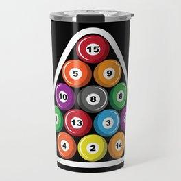 Billiards Pool Hall Sport Balls T-Shirts Travel Mug