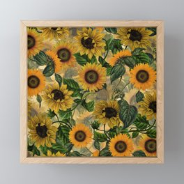 Vintage & Shabby Chic - Sunflowers Flower Garden Framed Mini Art Print
