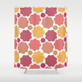 Flowers, Petals, Blossoms - Yellow Green Pink Shower Curtain