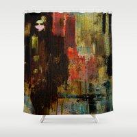 acid Shower Curtains featuring Acid rain by Ganech joe