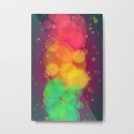 Colorful Bokeh Pattern Metal Print