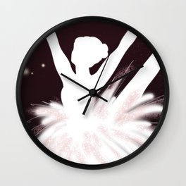 Space Ballerina (3 of 3) Wall Clock