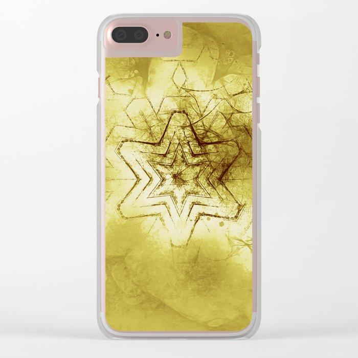 Star mandala in gold Clear iPhone Case
