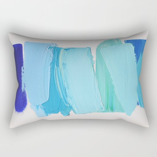Ocean Blues No. 2 Rectangular Pillow