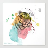 tiger Canvas Prints featuring tiger by mark ashkenazi