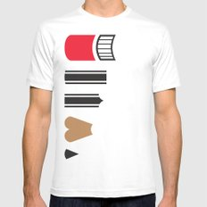 What a pencil looks like MEDIUM White Mens Fitted Tee