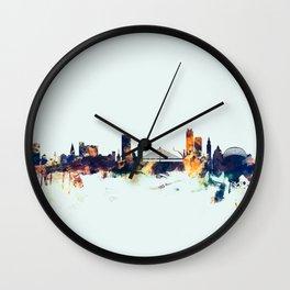 Liege Belgium Skyline Wall Clock