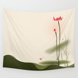 Oriental Lotus 002 Wall Tapestry