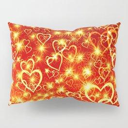Hearts On Fire Pillow Sham
